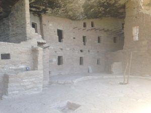 Close up of the dwellings.