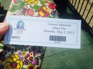 Here's my ticket!