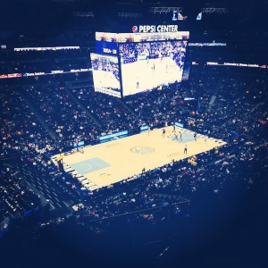 I watched the Nuggets lose from the nosebleeds.